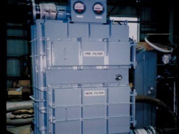 破砕機用バグフィルタ集塵機による漏れ防止