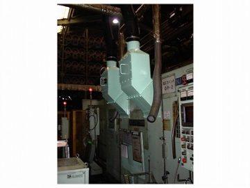 金属プレス機用ミスト捕集機による滑り防止